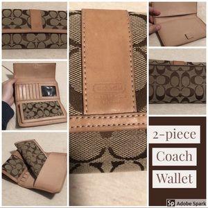 2 PIECE COACH Wallet